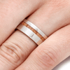 Oak Wood Ring with 14k White Gold-2145 - Jewelry by Johan