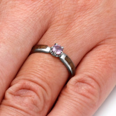 Pink Sapphire Engagement Ring in 14k White Gold-2805 - Jewelry by Johan