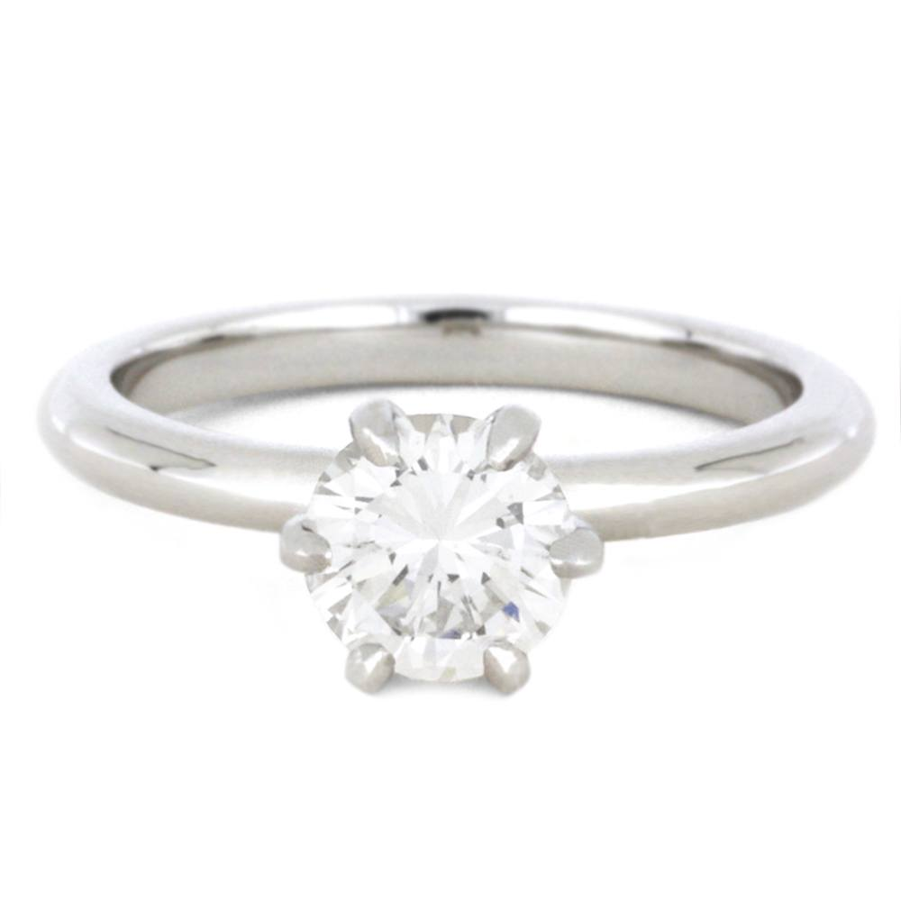 1 Carat Solitaire Diamond Engagement Ring in White Gold-3468 - Jewelry by Johan