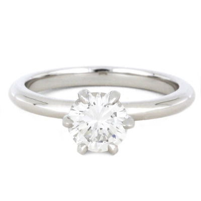 1 Carat Solitaire Diamond Engagement Ring in 10k White Gold-3468 - Jewelry by Johan