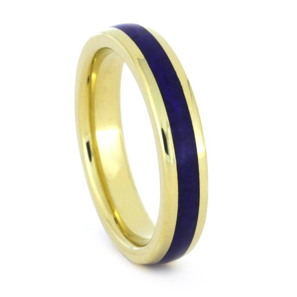 Lapis Ring in Yellow Gold, Womens Yellow Gold Ring, Round Profile-3306 - Jewelry by Johan