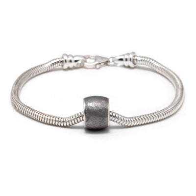 Authentic Meteorite Charm Bead Bracelet, In Stock-SIG3037 - Jewelry by Johan