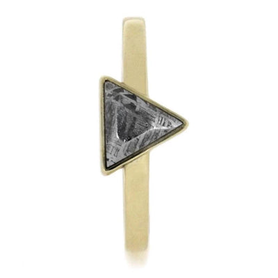 Triangle Setting Meteorite 14k Yellow Gold(2)
