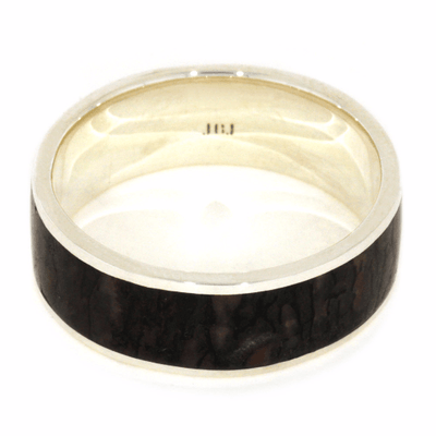 Custom Wedding Band With Dinosaur Bone-2091 - Jewelry by Johan