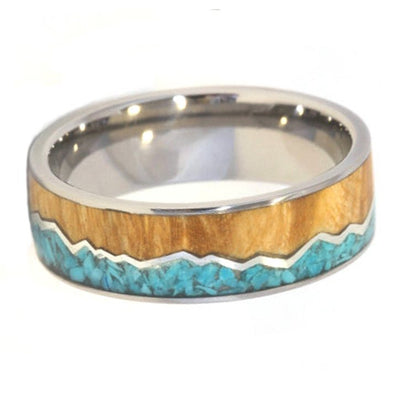 Mountain Range ring with Turquoise