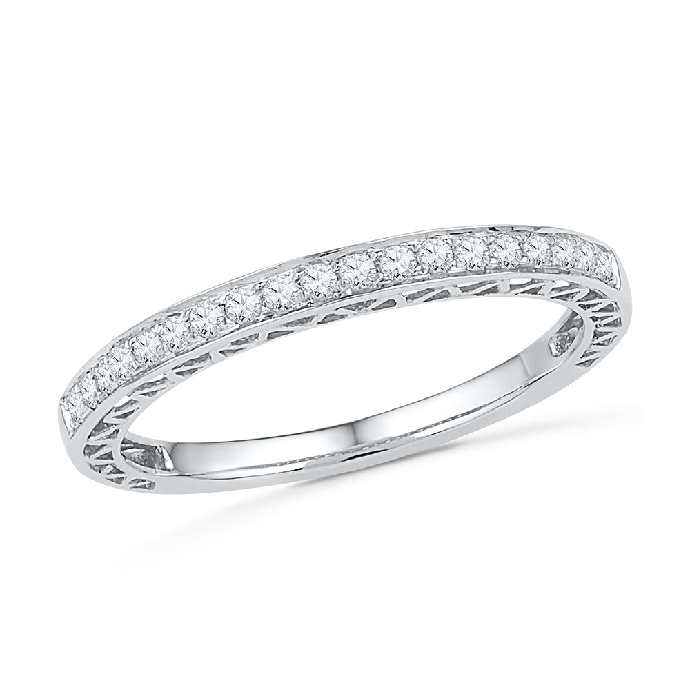 Diamond Wedding or Anniversary Band, Silver or Gold-SHRA030210 - Jewelry by Johan