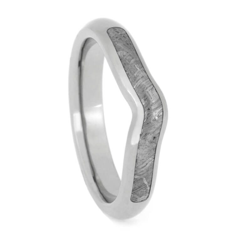 Customized Gibeon Meteorite Wedding Ring For an Existing Engagement Ring