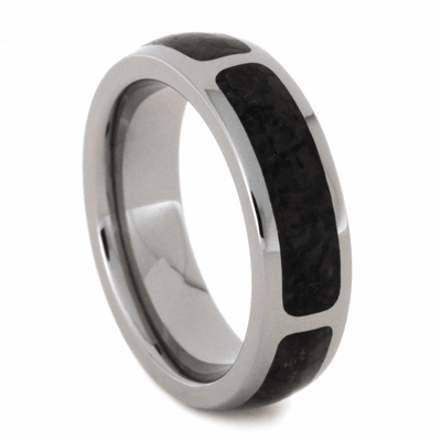 Sectioned Dinosaur Bone Wedding Band
