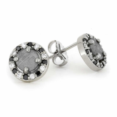 Black White Diamond Meteorite_Earrings(2)