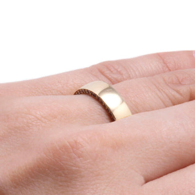 Gemstone Eternity Ring in Yellow Gold, Wooden Sleeve Ring-DJ1019YG - Jewelry by Johan