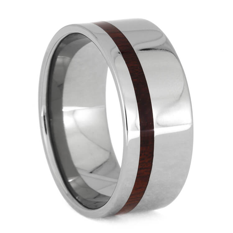 Titanium Men's Wedding Band with Bloodwood, Size 13-RS8802 - Jewelry by Johan