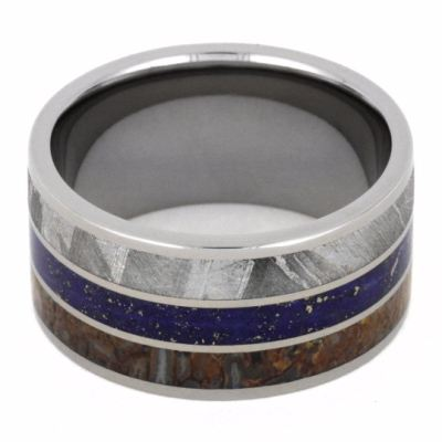 Titanium Men's Wedding Band With Three Unique Materials-2137 - Jewelry by Johan