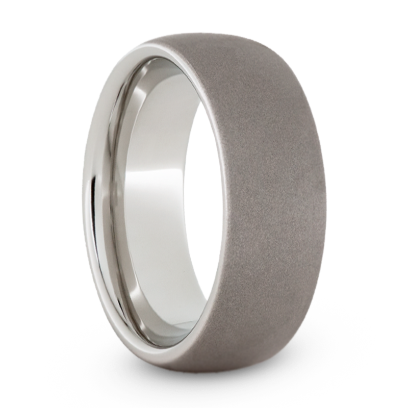 Serinium Wedding Band with Sandblasted Finish-JIRMSA002401 - Jewelry by Johan