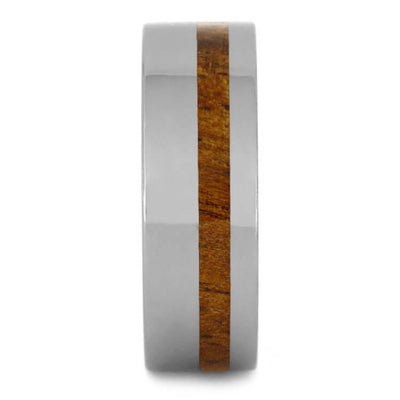 Tropical Koa Wood Ring, Tungsten Wedding Band, Natural Ring-2712