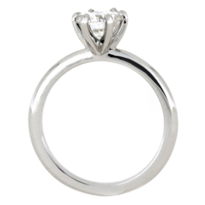 Classic Moissanite Solitaire, 10k White Gold Engagement Ring-2505 - Jewelry by Johan