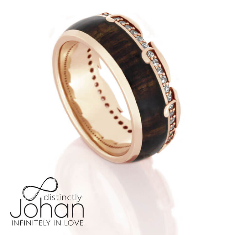 Rose Gold Antler Eternity Ring