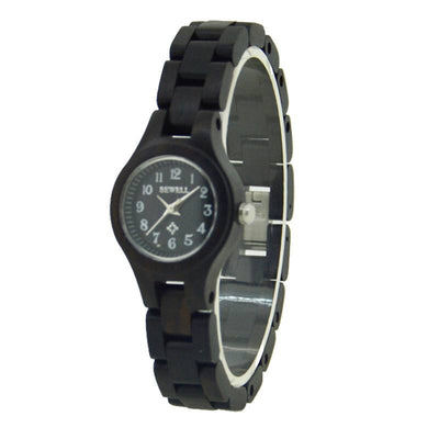 Women's Black Wood Watch Made With Sandalwood