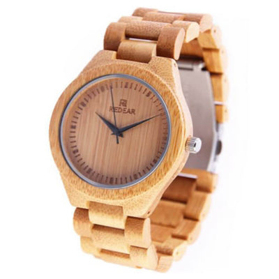 Bamboo Watch With Stainless Steel Fold Over Clasp-SW1001