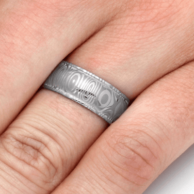 Stainless Steel Damascus Ring-2158 - Jewelry by Johan