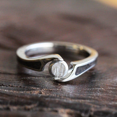 Titanium Dinosaur Bone Ring