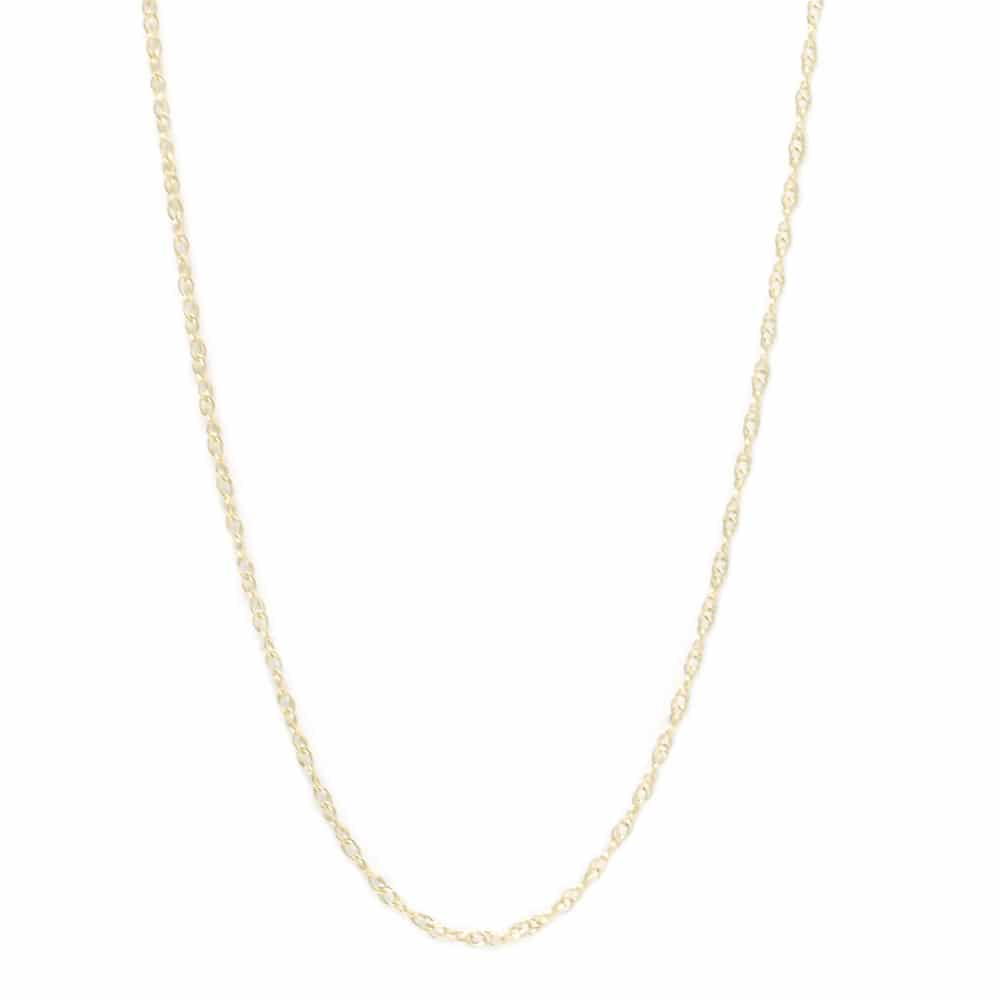 "16""- 18"" 10k Yellow Gold Rope Chain Necklace With Spring Ring-CH1028:1000:P"