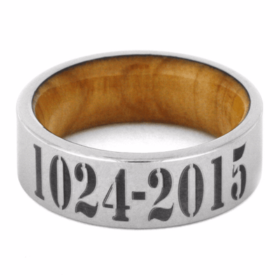 Tungsten Band with Cypress Wood Sleeve