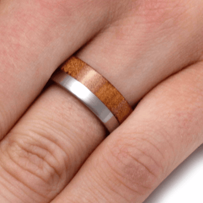 Kauri Wood Ring With Titanium Band (5)