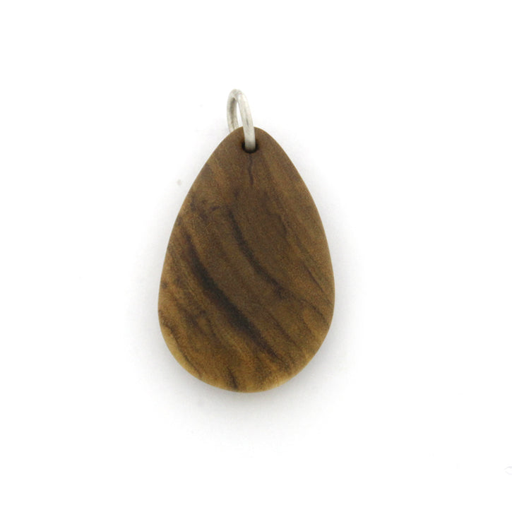 Custom Tear Drop Shaped Wood Pendant-1968 - Jewelry by Johan