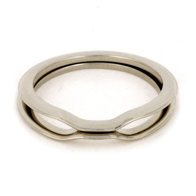 Custom 14k White Gold Wedding Bands, Flanking Bands-3151 - Jewelry by Johan