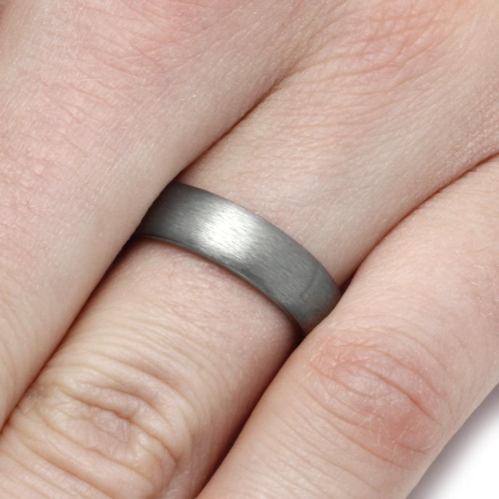 Tungsten Wedding Band With Satin Finish - Jewelry by Johan