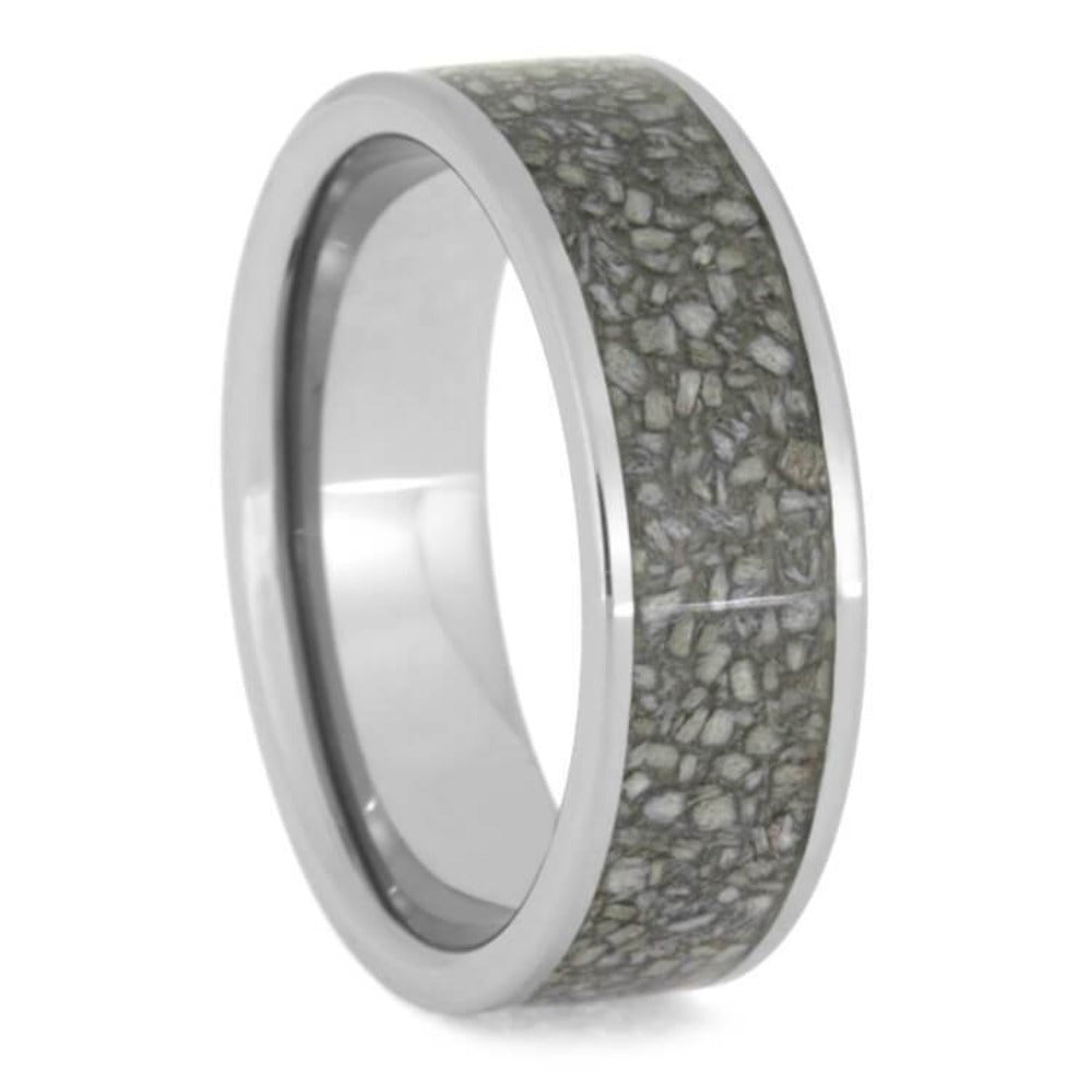 Tungsten Wedding Band With Crushed Deer Antler Inlay-2664 - Jewelry by Johan