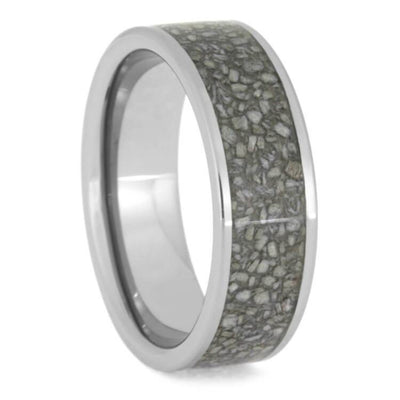 Tungsten Carbide Ring With Crushed Deer Antler Inlay