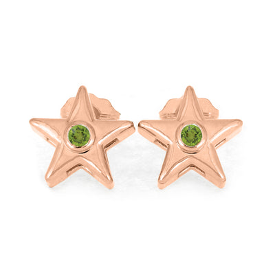 Rose Gold Peridot Earrings