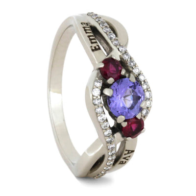 engagement gemstone settings accent rings your with shaped gold design ruby accents pear asp ring setting white