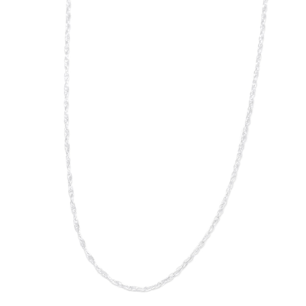 Rope Chain Necklace in Sterling Silver With Spring Ring-CH1057