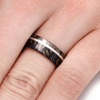 Black and Gold Composite Mokume Gane Ring with Platinum Pinstripe-2231 - Jewelry by Johan
