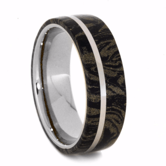 White Gold Composite Mokume Gane Ring-2243 - Jewelry by Johan
