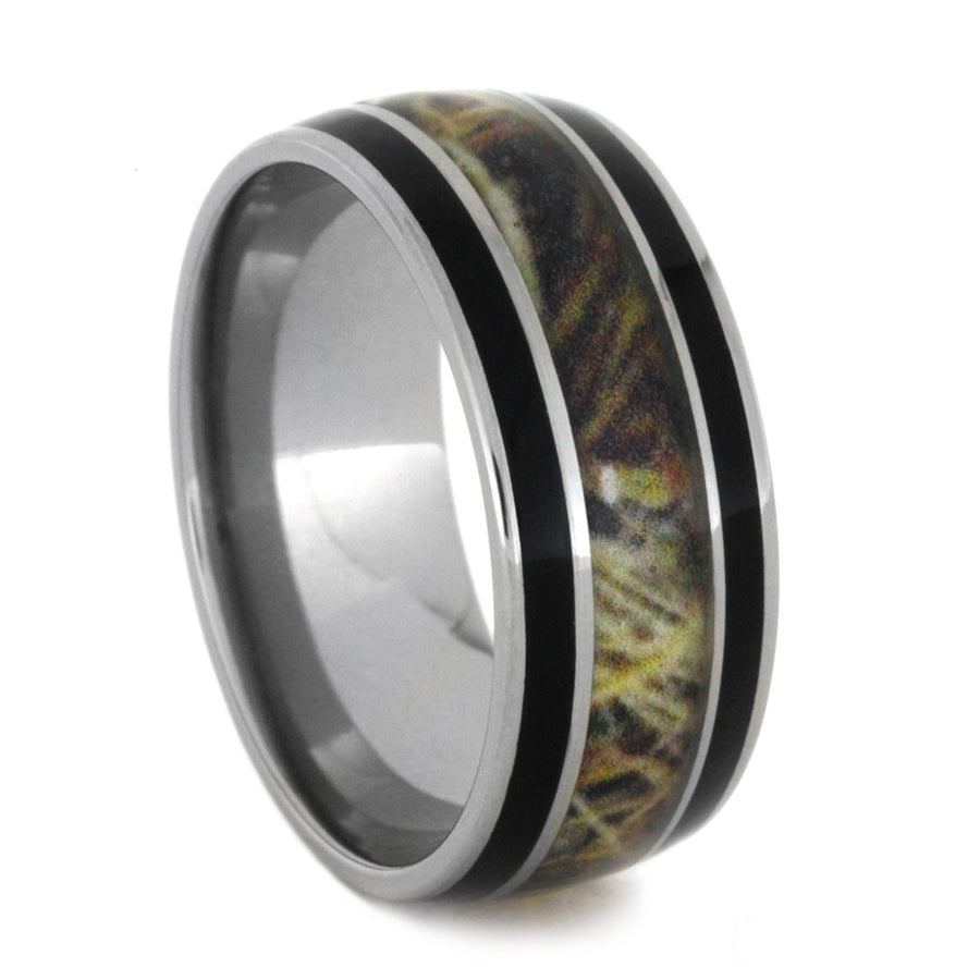 size titanium of mens men large bands diamonds rings wedding for with camo
