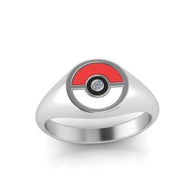 Pokemon Ring Pokeball Ring