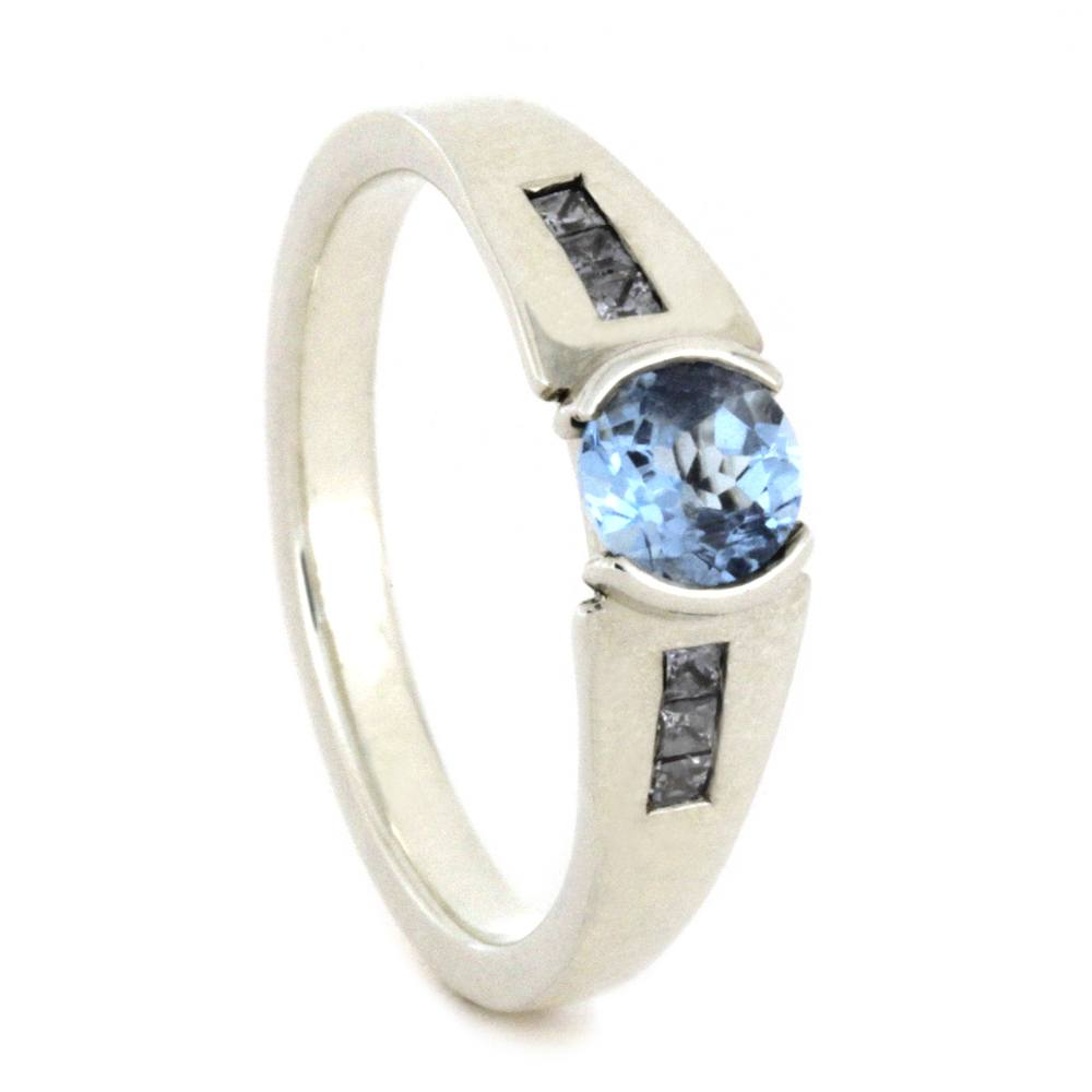 Sky Blue Topaz Engagement Ring In Sterling Silver, Size 6-RS8565 - Jewelry by Johan