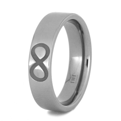 Titanium Ring with Jesus Fish, Trinity, Infinity Symbols, Size 7-RS9029 - Jewelry by Johan