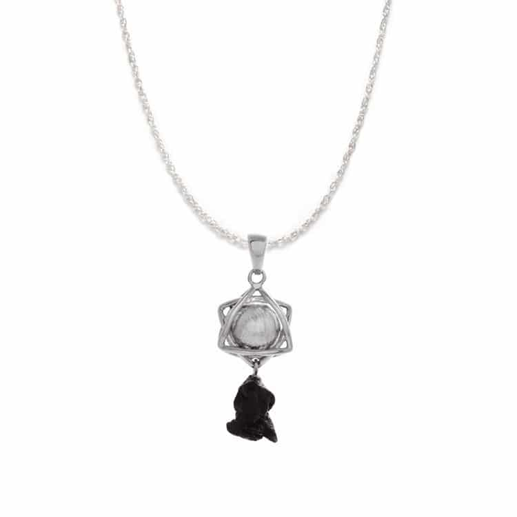 "18"" Muonionalusta And Campo del Cielo Meteorite Necklace, In Stock-RSSB010 - Jewelry by Johan"