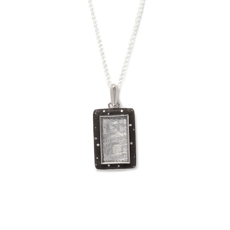 "30"" Meteorite and Swarovski Crystal Necklace, In Stock-RSSB002 - Jewelry by Johan"