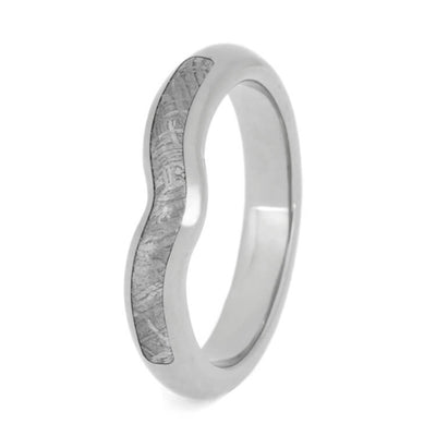 Custom Meteorite Wedding Ring, Engagement Ring Shadow Band-2665 - Jewelry by Johan