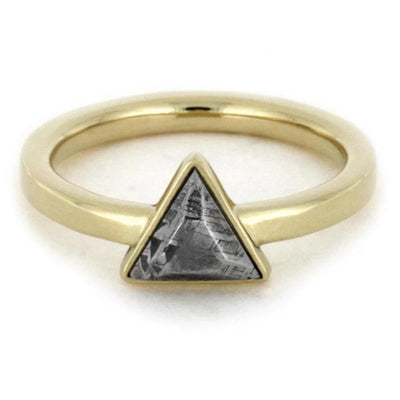 Triangle Setting Meteorite 14k Yellow Gold(4)