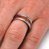 Natural Wood Wedding Band Inlaid With Redwood (4)