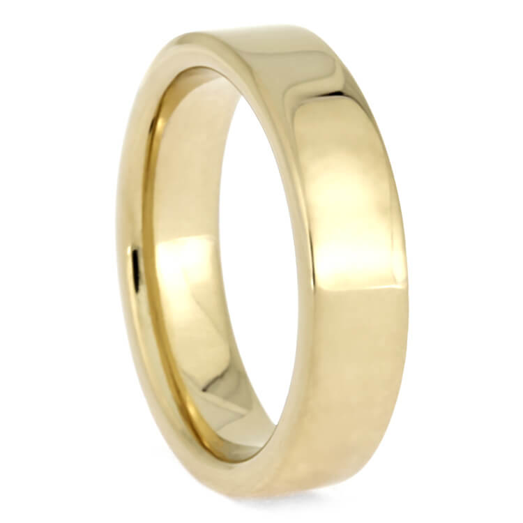 Simple Gold Wedding Band, 10k Yellow Gold Ring-2718