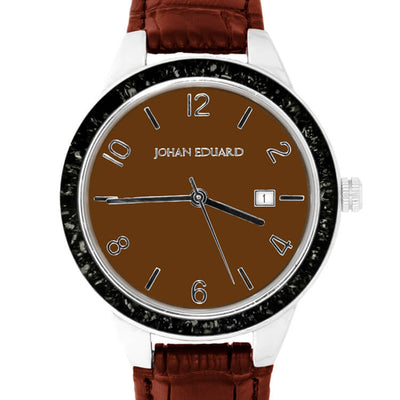 Brown Watch with Black Stardust