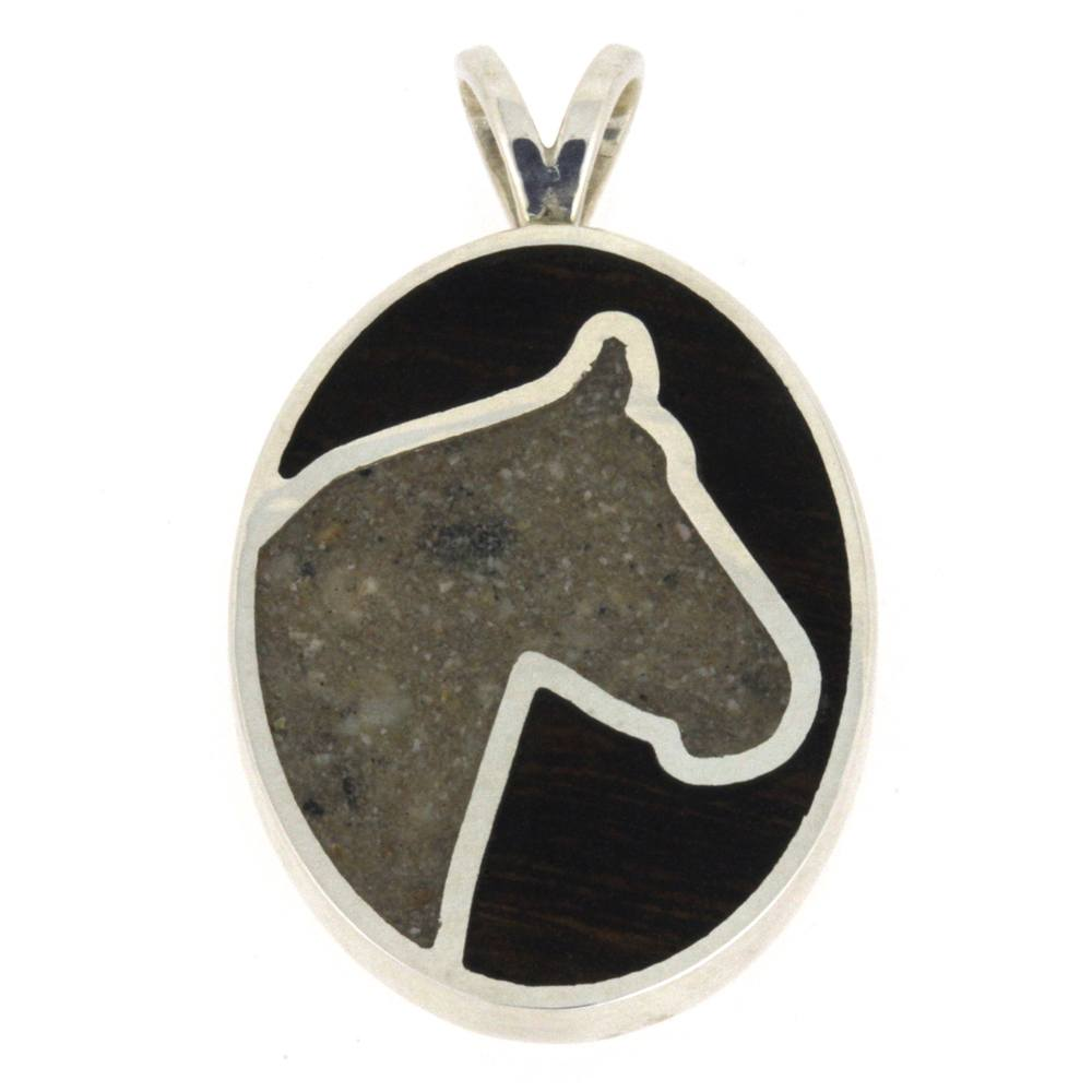 Horse Pendant, Pet Memorial Necklace, Pet Pendant with Ash-3268 - Jewelry by Johan