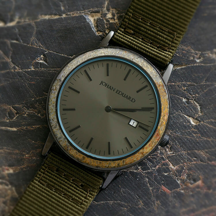 Dinosaur Bone Watch with Green Strap